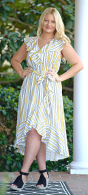 Stop And Stare Maxi Dress - Yellow