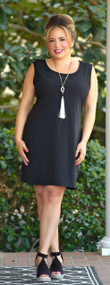 With Every Heartbeat Dress - Black
