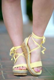 Destination Paradise Espadrille Wedges - Yellow