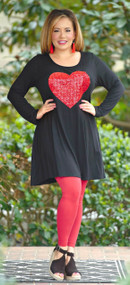 Gave You My Heart Dress/Tunic - Black