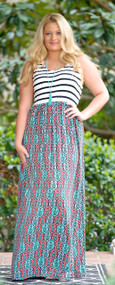 A Day Like Today Maxi Dress - Multi