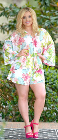 Lost In Paradise Floral Romper - White