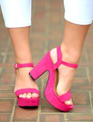 Be Iconic Heels - Fuchsia