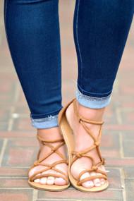 Set Me Free Sandals - Camel