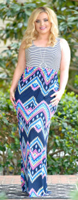Enjoy The Ride Maxi Dress - Navy