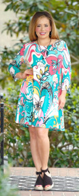 I've Been Everywhere Floral Dress - Multi