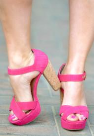 On The Move Heels - Fuchsia