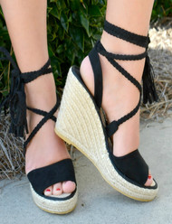 Show Off Your Moves Wedges - Black