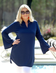 Pure Delight Tunic Top - Navy