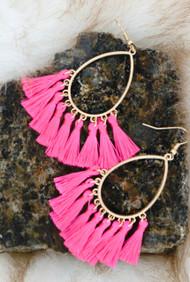 Page Turner Earrings - Pink