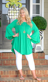 Everywhere I Go Tunic Top - Green