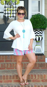 Where's The Party At Shorts - Mint/Magenta