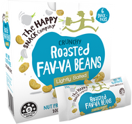 Happy Snack Roasted Fav-Va Beans - 4 packs of 6x25g Bags