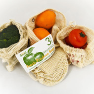 organic cotton reusable produce bags
