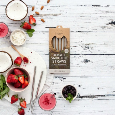 Reusable Stainless Steel Smoothie Straws