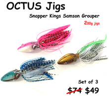 Hamachi Octus jigs 200 gram Fully rigged set of 3