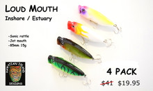 Hawaiian Island Designs LOUDMOUTH 85MM 15gram Popper pack - Fishing lure for Estuary Inshore