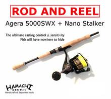 2016 HAMACHI Agera 5000 Spin reel + 7' Nano Stalker Rod + Braid