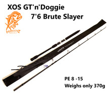 2018 HAMACHI 7'6 XOS GT'n'Doggie Brute Slayer PE8-15 Japanese spin popper fishing rod