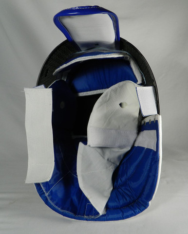 Epee Mask with a washable, removable inner lining.  CE protection level, 800 Newton Protection for Mesh, 350 Newton Protection for Bib.  Excellent mask for Beginning / Intermediate fencer for training and local tournaments.  Washing Instruction: For best results, let lining soak in water with a gentle detergent for a short   period of time and let air dry. We do not recommend putting it in the washing machine or dryer.