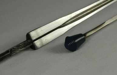 Epee Practice (Rubber Point) Blade, Standard/Regular (non-FIE) is a quality practice spring steel blade with a rubber point for the beginning fencer.  Note: Tangs can be cut to match the type of grip you are using.   The Short Tang is commonly used for smaller grips, such as the Visconti.   The Medium Tang is used for slightly larger grips, such as the Belgian.   The Long Tang is used for the longer grips, such as the French. Blades usually come with the Long Tang, if you use a French-type grip, or would like to cut your own to match your own grips.