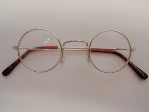 benjamin round metal reading glasses gold