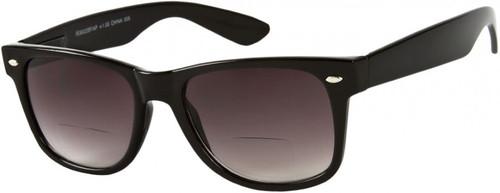 Wayfarer Bifocal Style  Sun Reading Glasses / Smoke