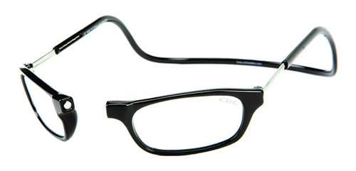 Clic Magnetic Reading Glasses Black/Long
