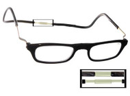 Black XL Clic Magnetic Reading Glasses
