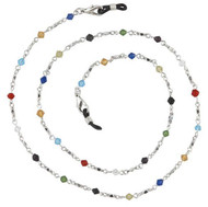 colored crystal eyeglass chain