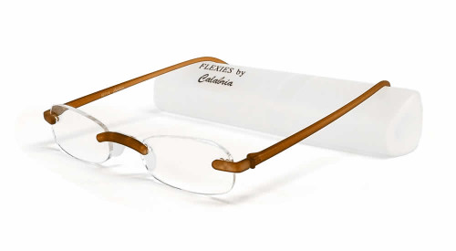 Flexies Reading Glasses By Calabria / Tortoise High Power