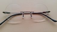 Full Round Rimless Reader Gunmetal