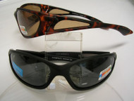 Sports Wrap Polorized Sunglass Smoke Amber