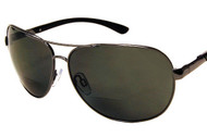 Polarized Aviator  Bifocal Sun Reading Glasses/Smoke