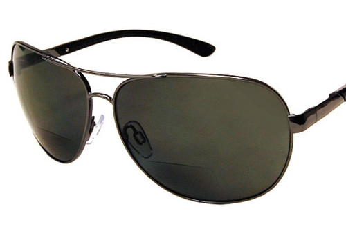 Polarized Aviator  Bifocal Sun Reading Glasses/Smoke
