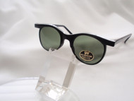 Round Wings Vintage Sunglass / Black