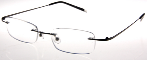 Rimless Glasses Lightweight : SD Lightweight Rimless Reading Glasses/ Gun - EyeNeeds