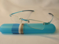 Visualite Rimless Reader Turquoise Womens