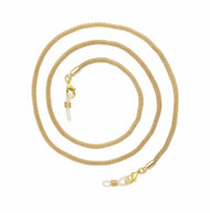 gold tone eyeglass holder chain