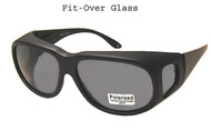 Over the glasses Polarized Sunglasses Black/Large