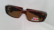 brown rhinestone fit over sunglasses