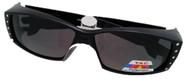 black rhinestone fit over sunglasses