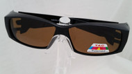 black fit over sunglasse with amber lenses
