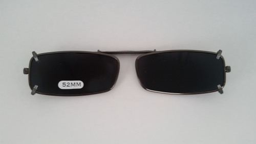 small rectangular polarized clipon smoke 52mm