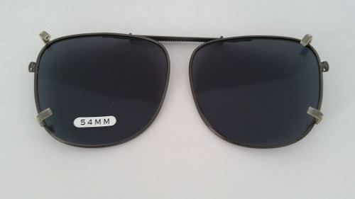 medium pilot clip-on polarized sunglasses 54mm