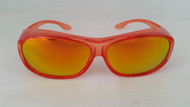 polarized fit over sunglasses orange/gold mirrored lenses