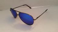 polarized blue mirrored aviator sunglasses