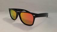 polarized gold mirrored wayfarer sunglasses