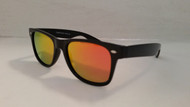 Polarized Orange Mirrored Wayfarer Style Sunglasses