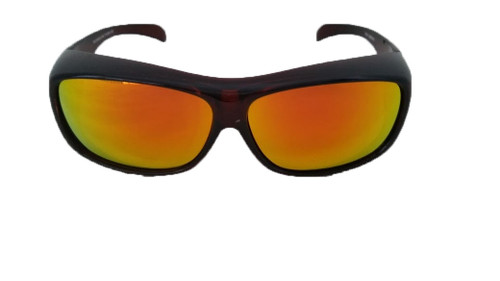 polarized gold mirrored large fit over sunglasses